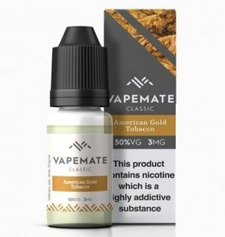 American Gold Tobacco e-Liquid by Vapemate 50% VG