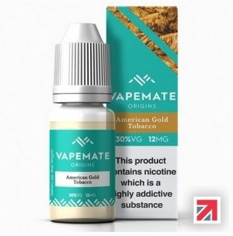 American Gold Tobacco e-Liquid by Vapemate 70% PG