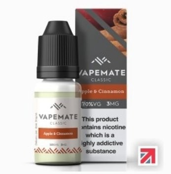 Apple & Cinnamon e-Liquid by Vapemate 70% VG