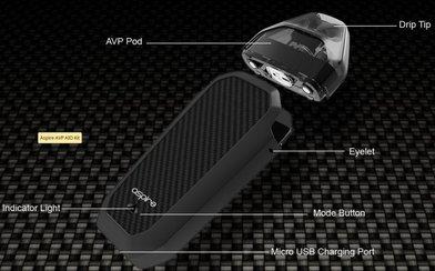 Aspire AVP Pod Kit 700mAh (10ml salt inc)