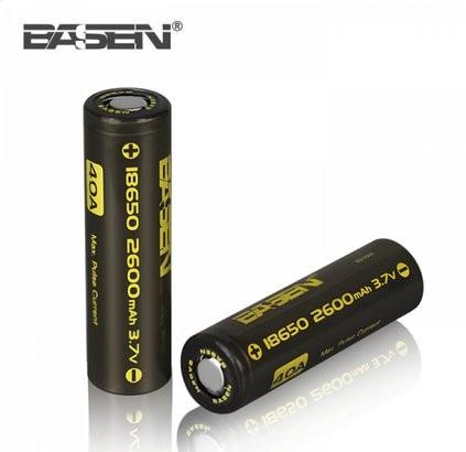 Basen 18650 2600mAh Battery - 2 Pieces