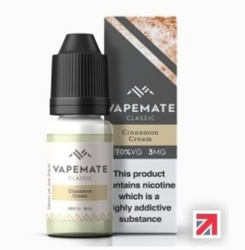 Cinnamon Cream e-Liquid by Vapemate 70% VG
