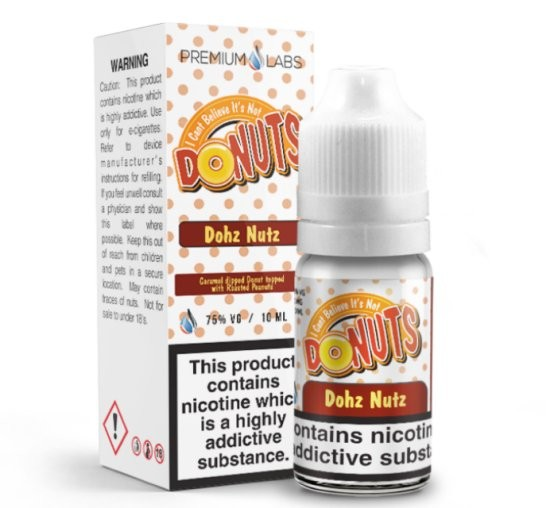 Donut Caramel Peanut (Dohz Nutz) e-Liquid I Can't Believe It's Not Donuts