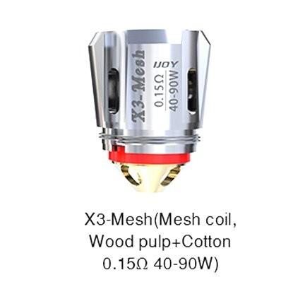 iJoy Avenger X3 Mesh 0.15 Ohm Coils