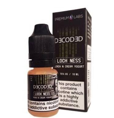 Peach Cream Yoghurt (Loch Ness) e-Liquid by Decoded (Premium Labs)
