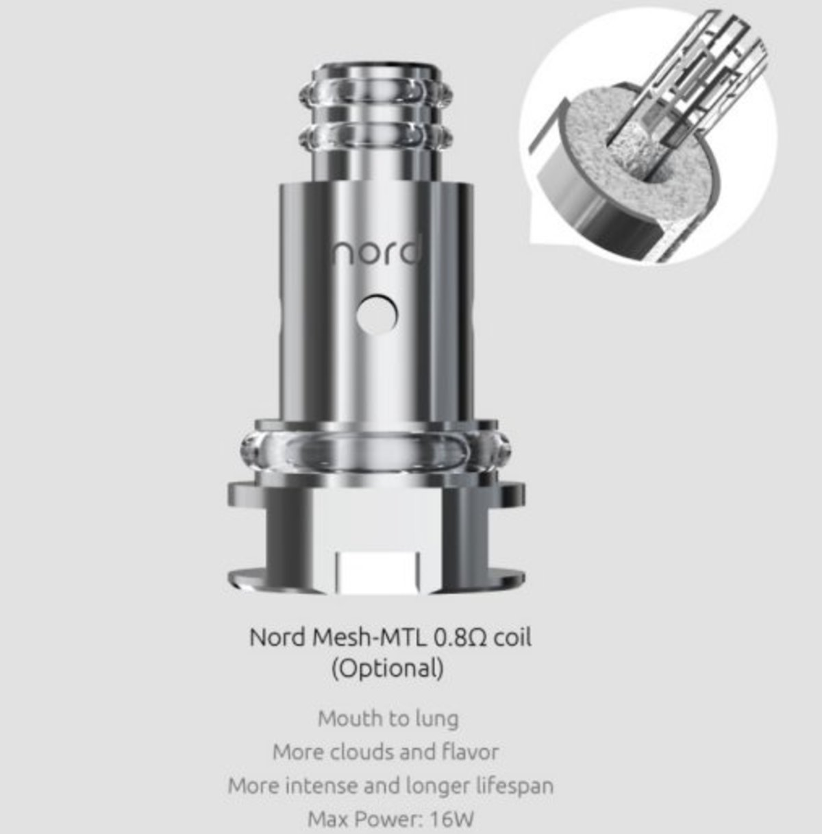 SMOK Nord 0 8 Ohm Mesh MTL Coil