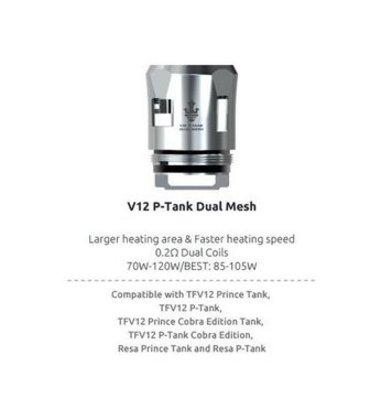 SMOK V12 Prince P-Tank Dual Mesh 0.2 Ohm Coils