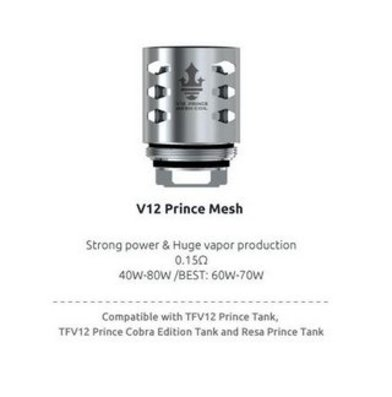 SMOK V12 Prince Mesh 0.15 Ohm Coils