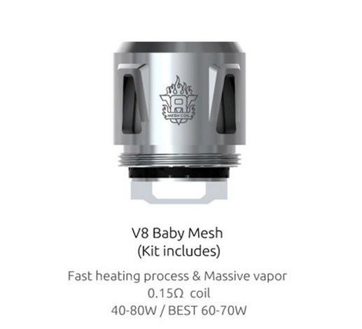 SMOK V8 Baby Mesh 0.15 Ohm Coils