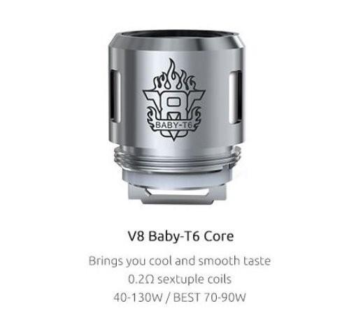 SMOK V8 Baby T6 0.2 Ohm Coils