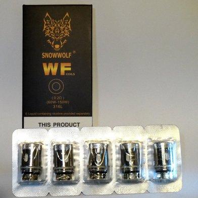 Snowwolf WF 0.2 Ohm Coils (Stainless)