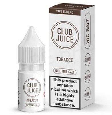 Tobacco Nic Salt E-Liquid by Club Juice