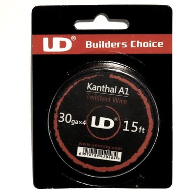 UD Quad Twisted Kanthal 30G 15ft
