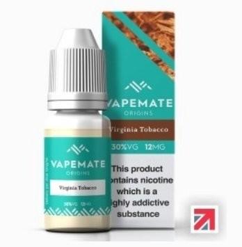 Virginia Vapemate E-Liquid 70% PG
