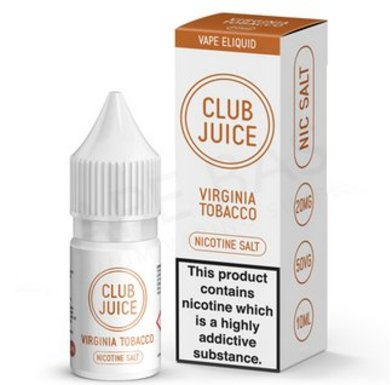 Virginia Tobacco Nic Salt E-Liquid by Club Juice