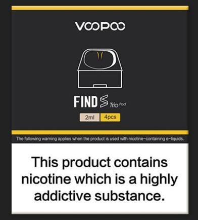 Voopoo Find Trio Pods (4 pack)