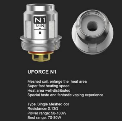 Voopoo UForce N1 0.13 Ohm Mesh Coils